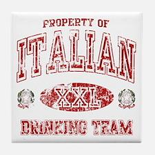 Italian Drinking Team Tile Coaster