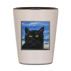 Black Cat at Capitola Shot Glass