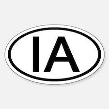IA - Initial Oval Oval Decal