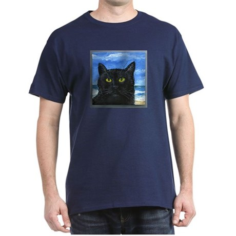 Black Cat at Capitola Dark T-Shirt