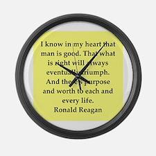 Ronald Reagan quote Large Wall Clock