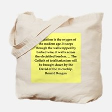 Ronald Reagan quote Tote Bag