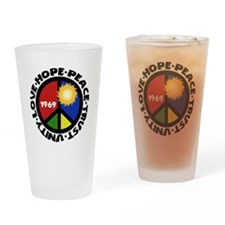 Hope Peace Love Trust Unity Drinking Glass