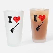 I Heart Guitar Drinking Glass