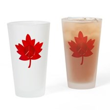 Maple Leaf Peace Sign Drinking Glass