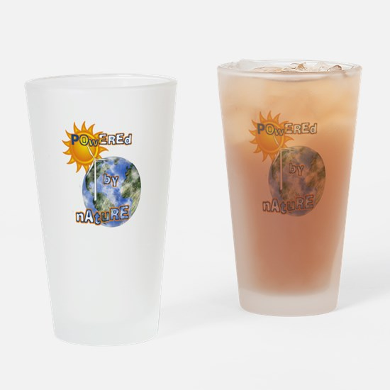 Powered By Nature Drinking Glass