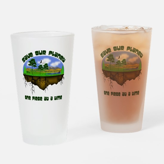 Save Our Planet Drinking Glass