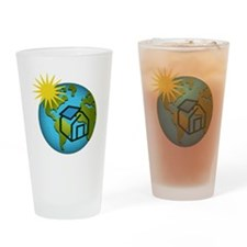 Solar Power Earth Drinking Glass