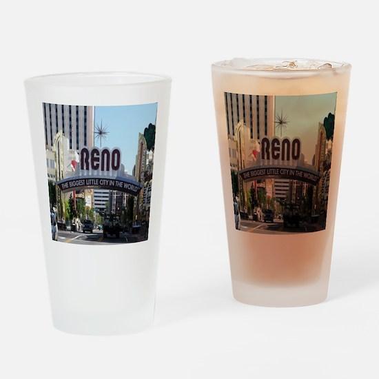 Reno Biggest Little City Drinking Glass