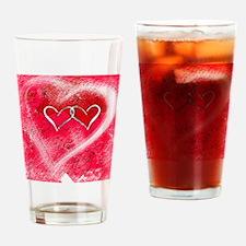 Hearts Illusion Drinking Glass