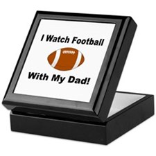 I watch football with my dad! Keepsake Box
