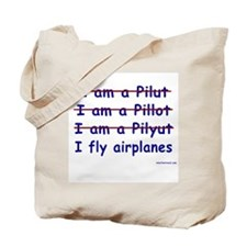 I Fly Airplanes Tote Bag