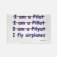 I Fly Airplanes Rectangle Magnet