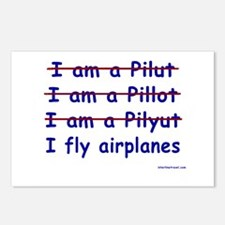 I Fly Airplanes Postcards (Package of 8)