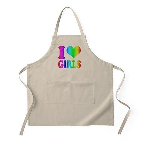 I heart Girls Rainbow Apron