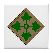 4th Infantry Division Tile Coaster