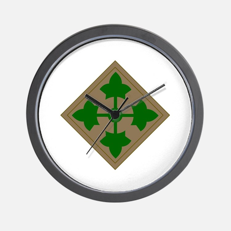 4th Infantry Division Wall Clock