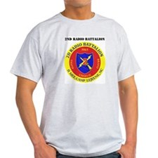 2nd Radio Battalion with Text T-Shirt