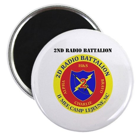 2nd Radio Battalion with Text Magnet