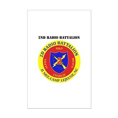 2nd Radio Battalion with Text Posters