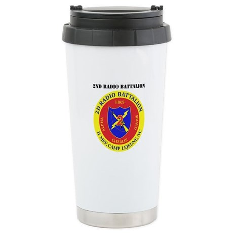 2nd Radio Battalion with Text Stainless Steel Trav