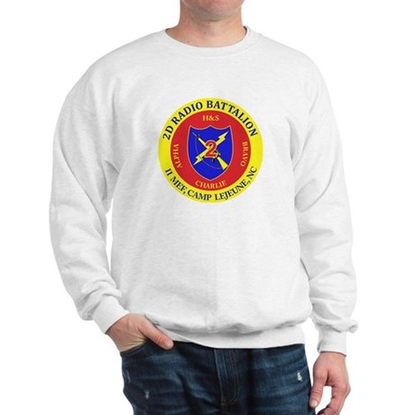 2nd Radio Battalion with Text Sweatshirt
