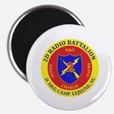 """2nd Radio Battalion with Text 2.25"""" Magnet (100 pa"""