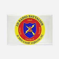 2nd Radio Battalion with Text Rectangle Magnet