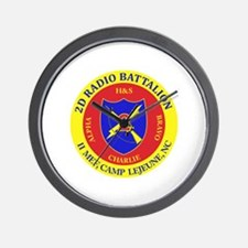 2nd Radio Battalion with Text Wall Clock