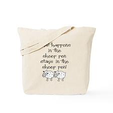 ... the sheep pen Tote Bag