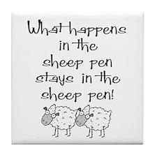 ... the sheep pen Tile Coaster