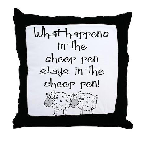 ... the sheep pen Throw Pillow
