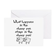 ... the sheep pen Greeting Cards (Pk of 10)