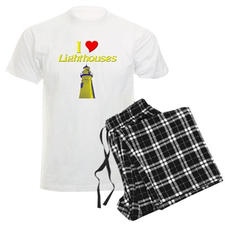 I love Lighthouses Men's Light Pajamas
