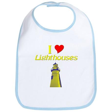 I love Lighthouses Bib