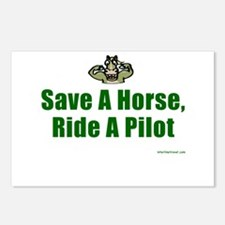 Save a Horse, Ride a Pilot Postcards (Package of 8
