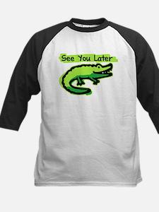 See You Later Alligator Kids Baseball Jersey