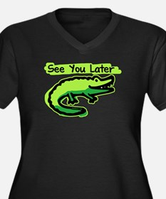 See You Later Alligator Women's Plus Size V-Neck D