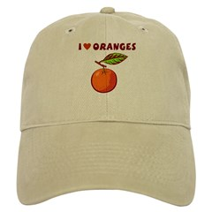 I Love Oranges Baseball Cap