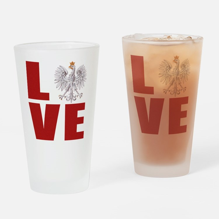 Polish Love Drinking Glass