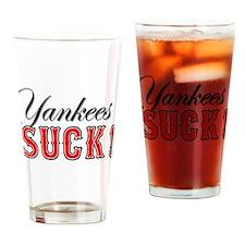 Cute Yankee baseball Drinking Glass