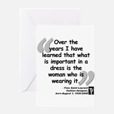 Laurent Dress Quote Greeting Card
