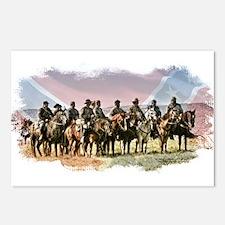 Civil War Reenactment Cavalry Postcards (Package o