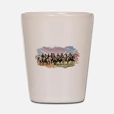 Civil War Reenactment Cavalry Shot Glass