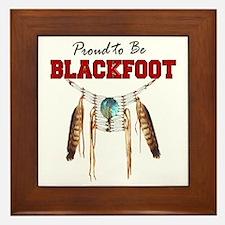 Proud to be Blackfoot Framed Tile