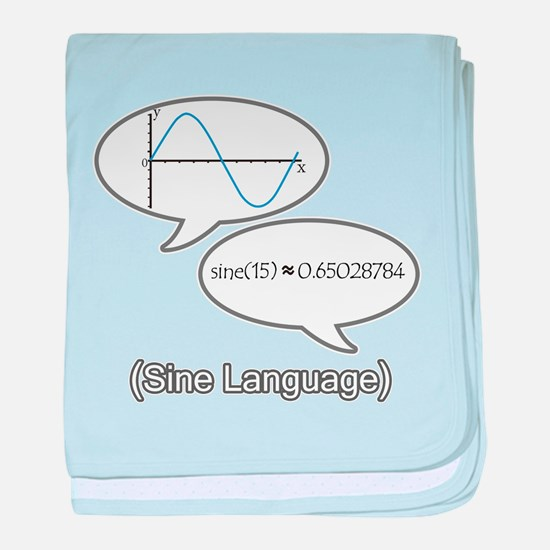 Sine Language baby blanket