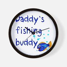 Daddy's Fishing Buddy Wall Clock