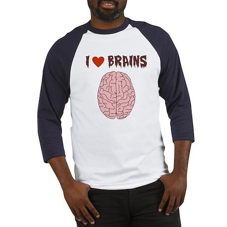 Zombie I Love Brains Baseball Jersey
