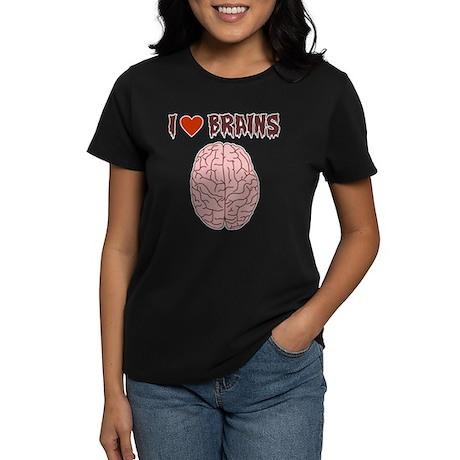 Zombie I Love Brains Women's Dark T-Shirt