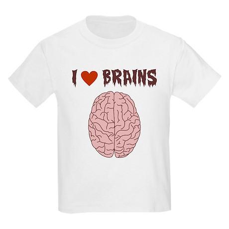 Zombie I Love Brains Kids Light T-Shirt